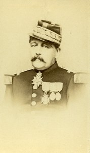 France Paris Military Officer Medals Old CDV Photo Flamant 1870