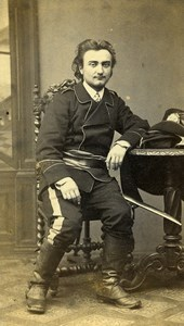 France Limoges Military Officer Old CDV Photo Martin 1884