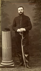 France Chalons Military Soldier Sabre Old CDV Photo Michel 1900