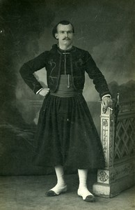 France Paris Military Soldier Zouave Old CDV Photo Grossin 1900