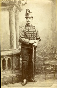 France Lille Military Soldier Cavalry? Old CDV Photo Frobert 1900