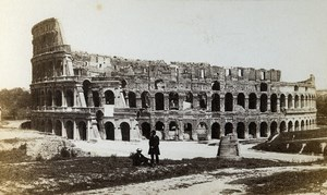Italy Rome Roma Colosseum Colosseo Architecture Old CDV Photo Sommer 1870