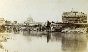 Italy Rome Roma Castle Castel Sant'Angelo Old CDV Photo Sommer 1870