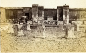 Italy Pompeii Ruins Pantheon Old CDV Photo Sommer 1870