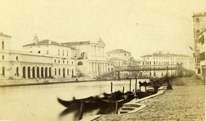 Italy Venice Venezia Grand Canal Grande Gondola Old CDV Photo Carlo Ponti 1870