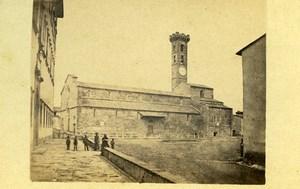Italy Fiesole Church Old CDV Photo Alphonse Bernoud 1870
