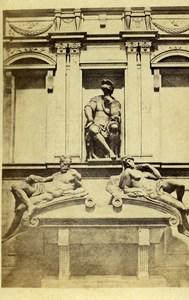Italy Firenze San Lorenzo Michelangelo Duke of Urbino Old CDV Photo Bernoud 1870