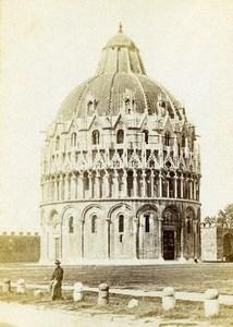 Italy Pisa Baptistery Battistero di San Giovanni Old CDV Photo Van Lint 1870
