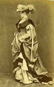 France Woman Costume Fashion Stage Actor? Old Calavas? CDV Photo 1890