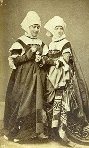 France Costume Antique Mode Feminine Acteur de Theatre? Ancienne CDV Photo 1890