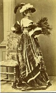 France Woman Costume Fashion Stage Actress? Old Calavas? CDV Photo 1890