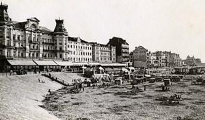 Belgique Ostende Front de Mer Plage Ancienne CDV Print Daveluy 1900