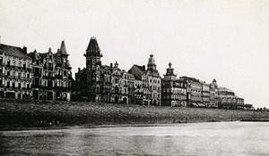 Belgique Ostende Front de Mer Digue Ancienne CDV Print Daveluy 1900