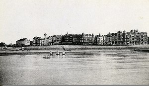 Belgium Oostende Panorama from the Pier Old CDV Print Daveluy 1900