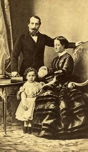 France Empereur Napoleon III Famille Portrait Ancienne CDV Photo Disderi 1860