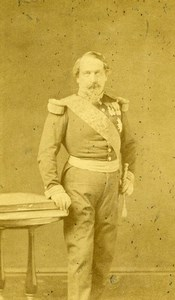 France Napoleon III Emperor Portrait Old CDV Photo Pierson 1870