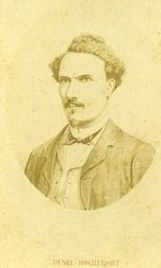 France Journalist Henri Rochefort Portrait Old CDV Photo 1870