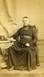 France Lille Abbé Augustin Lefebvre Death Old CDV Photo Le Blondel 1864