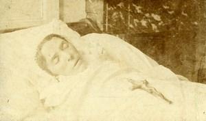 France Lille Woman Post Mortem Portrait Old CDV Photo Piccolati 1890