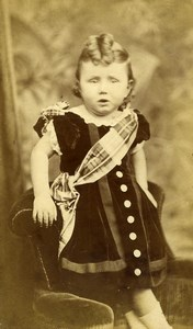 Royaume Uni Sheffield Enfant Portrait Mode Ancienne CDV Photo Sunderland 1880