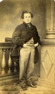 Belgium Chimay Man Costume Second Empire Fashion Old CDV Photo Kirsch 1860