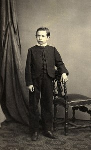 Belgium Brussels Child Costume Second Empire Fashion Old CDV Photo Staquet 1860