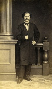 France Elegant Man Second Empire Fashion Old CDV Photo 1860