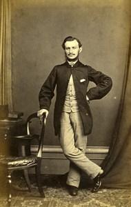 France Elegant Man Second Empire Fashion Old CDV Photo 1860