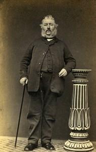 France Elegant Man Beard Second Empire Fashion Old CDV Photo 1860
