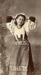 France Italian? Woman Costume Fashion Old CDV Photo 1860