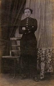 France Jeune Garcon en Uniforme Mode Second Empire Ancienne CDV Photo 1860