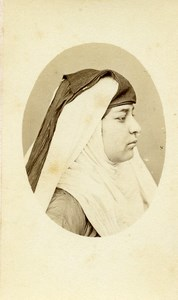 Algeria Alger? Woman Traditional Costume Fashion Old CDV Photo 1870