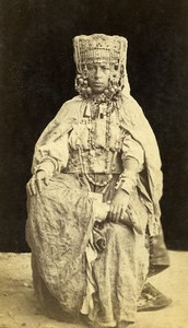 Algeria Alger? Woman Costume Fashion Old CDV Photo 1870