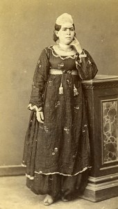 Egypt ? Cairo Woman Costume Fashion Old CDV Photo 1870