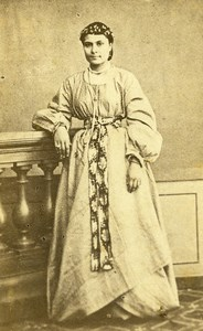 Egypt Cairo ? Woman Costume Fashion Old CDV Photo 1870