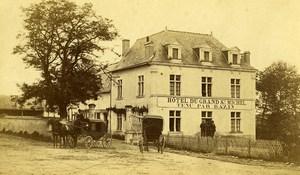 France Chambord Castle Grand Hotel Advertising Old CDV Photo Mieusement 1865