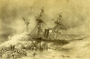 South Africa Boat Primauguet failed at Cape of Good Hope Old Photo 1865