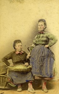 Germany Hamburg Women Fish FischFrau Old CDV Photo Hattorff 1890