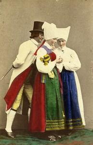 Sweden Sodermanland Vingaker Traditional Costume Old CDV Photo Eurenius 1868
