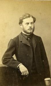 France Paris Man Costume Fashion Autograph Old CDV Photo Nadar 1864