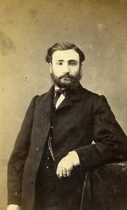 France Paris Bearded Man Costume Fashion Old CDV Photo Nadar 1870