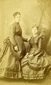 France Paris 2 Women Costume Fashion Autograph Old CDV Photo Nadar 1870