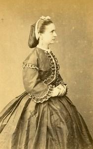 Peru Lima Woman Costume Fashion Old CDV Photo Maunoury Nadar 1870