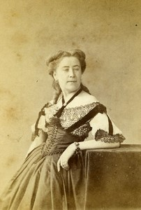 France Paris Woman Costume Fashion Old CDV Photo Nadar 1870