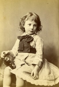 United Kingdom London Children Fashion Game Horse Toy CDV Photo Faulkner 1879