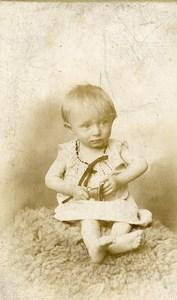 France Roubaix Jeu d'Enfants la Clochette Ancienne CDV Photo Planque 1890