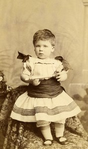 United Kingdom London Children Toy Trumpet Horn? Old CDV Photo Taylor 1880