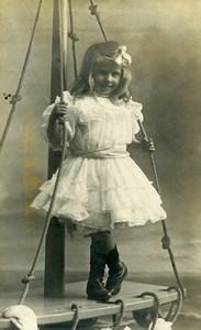 France Tourcoing Jeu d'Enfants Fillette Ancienne CDV Photo Carette 1900