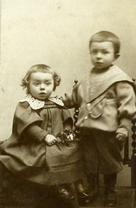 France La Madeleine Jeu d'Enfants le Bouquet Ancienne CDV Photo Elie Rozet 1890