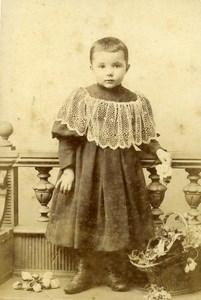 Belgique Bruxelles Jeu d'Enfants Panier et Bouquet Ancienne CDV Photo Fabronius 1890